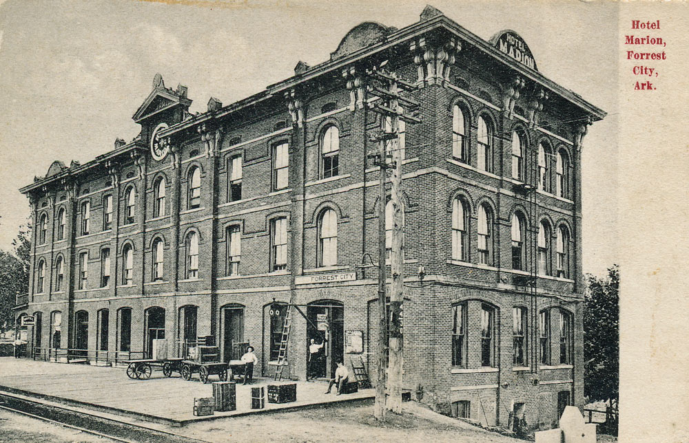 This Postcard Image Of The Marion Hotel Was Published Circa 1908 By J T Sanders A Forrest City Gist Fine Detail Seen On Card Common With