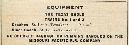Missouri Pacific's Texas Eagle